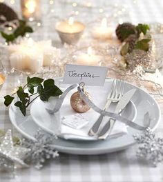 déco de table de fête pour Noël