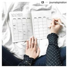 #bujodeutschland um auch dabei zu sein! #Repost @journalspiration with @repostapp ・・・ Hey guys, I already set up my November monthly layout. It's the same as last month, I just like the clean look and I don't have to spend so much time.   Some of you might know this already, I'm thinking about selling planners designed by me and I would love to know what you think of this idea. Would you be interested? ☺️ _________ Hallo ihr lieben, ich habe mein November Layout schon vorbereitet. Es ist das…