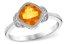 Beautiful citrine ring set in white gold!  Available at Daniel Jewelers, Brewster New York