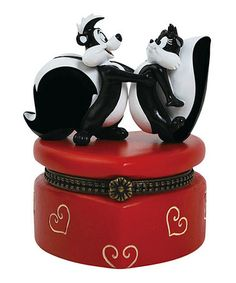 Loving this Pepe Le Pew & Penelope Trinket Box on #zulily! #zulilyfinds