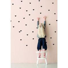 Ferm Living Mini Hearts Wall Sticker (Black) - House