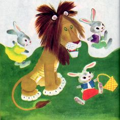 'The Tawny Scrawny Lion'  Gustaf Tenggren ~ one of my favorite golden books