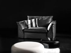 Leather Pitagora Armchair - Golden Young Collection by Alberta Salotti