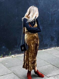 The £59 Velvet Slip Dress Your Favourite Bloggers Are Obsessed With