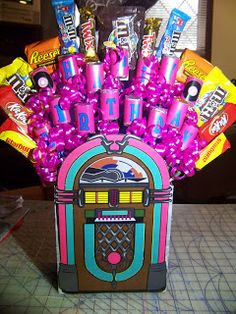 Kims Kandy Kreations: Sock Hop Jukebox Candy Bouquet Tutorial