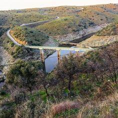 Desde el mirador de los #puentes del Almonte. EX-390. #lascarreterasdeExtremadura