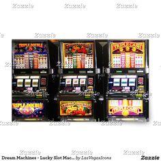 Dream Machines - Lucky Slot Machines Rectangular Sticker #LasVegasIcons -