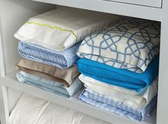 Tired of rummaging through mismatched bedsheets? Caroline's great Tuesday Tip involves storing bed linen sets inside one of their own pillowcases to create easy organizing!