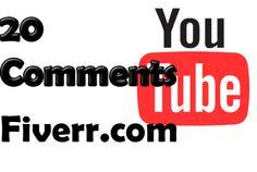 sebheloe: comment on 20 YouTube videos for $5, on fiverr.com