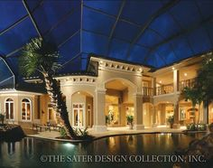 """The """"Ristano"""". Sater Design Collection plan from our Luxury home plan portfolio. #outdoorliving #luxuryhomeplans"""