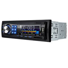 Masione 12V Bluetooth Car Stereo Audio Receiver with USB Port, SD Card Slot, AUX Receiver and Remote Control. Digital in-dash car receiver. Support Bluetooth, as long as your cellphone can support bluetooth, you can answer your call & play music through this car audio stereo. Wireless remote control; Multi-color LCD display. Four speaker wires and mounting accessories. Automatic memory function for 18 broadcasting stations. Monophony/stereo control/ mute control.Equal-loudness…