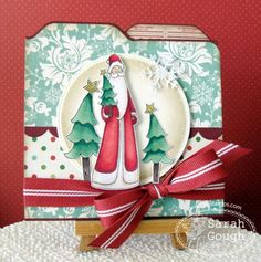 Square File Folder Card with Hidden Magnetic Closure - Tutorial!