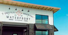 7 Devils Brewing opens new Waterfront Alehouse on Oregon Coast — New School Beer + Cider Coast Guard Cutter, Bay Village, Coos Bay, Oregon Road Trip, Modern Restaurant, Brew Pub, Tap Room, Brewing Company, Oregon Coast