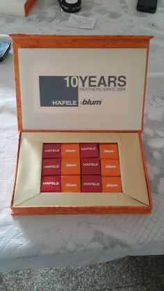Corporate gifting chocolate box celebrating 10 years of partnership