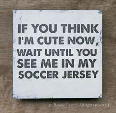Vintage Soccer Sign Sports Team Decor Baby Boy by bonnielecat, $30.00