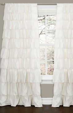 Definitely getting ruffles curtains for my closet or make up room when we get a bugger house!
