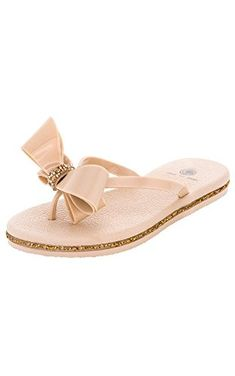 5c68686d42d6 CCFW Womens Most Comfort Stylish Flip Flops Sandals DIzzy Fashion Beach  Wear 7BM US Beige  gt