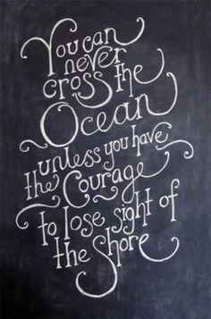 Ocean Courage Quote