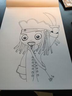 Captain Jack Sparrow  Doodle art a3