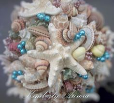 Beach Wedding Bridal Bouquet of Shells and by romanticflowers