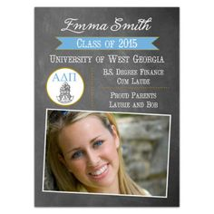 Alpha Delta Pi Chalk Grad Announcements
