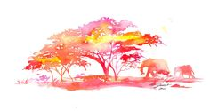 Original Watercolor Africa Painting Jessica by JessicaIllustration, $125.00