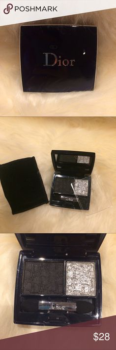 Dior High Lights Duo Eyeshadow Used for one night out! Jet Black and sparkly grey/silver. Gives you the glam look for a night out! Get it now! 👍 and Happy shopping🎉 🙏 Dior Makeup Eyeshadow