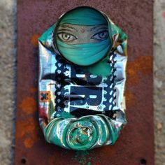 Tin can art by My Dog Sighs •••