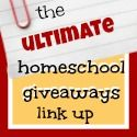 The Ultimate Homeschool Giveaways Link Up Party – 3/7!  Come link up your giveaways and enter some, too!  #education #homeschool #giveaways