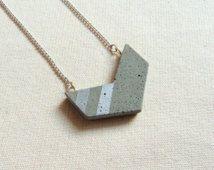 Collana di calcestruzzo Chevron, geometrico cemento