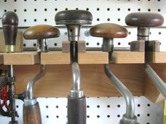Pegboard Tool Storage Epiphany #4: Hand drill storage rack - by Brad…
