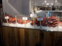 The Lobster Place (Chelsea Market, NYC, NY):  Here are the cooked lobsters.  It was charged market price per pound and I noted that it could get quite pricey.  Everywhere you looked, people were chowing down on these lobsters.  Next time, I'm definitely going for this.