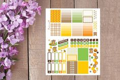Honey Bear Weekly Planner Sticker Kit by GirlIsCrafti on Etsy