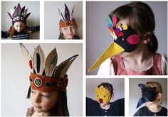 Ideas de coronas y máscaras de fieltro