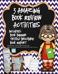 Three engaging activities that are perfect for any time of the year.  They can be used with any book! They make a super cute display as well! Its a fun way for the students to look at the elements of a story.  You may choose to have them all do the same book, but I love letting them pick out the book of their choice.