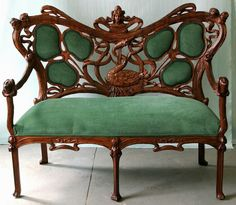 innendesign residential ideas set up examples of Art Nouveau style sofa