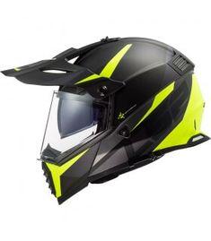 Caschi Crosstourer da moto versatili per protezione. Prezzi shop online Super-bike.ch Ls2 Helmets, Motorcycle Helmets, Black Neon, Neon Yellow, Ventilation System, Head Shapes, Super Bikes, Shape Design, Evo