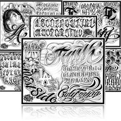 ... art and tattoo blackletters calygraphy sleeps flash calygraphy taggin