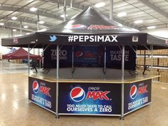 #Pepsi with a customized octagonal pavilion