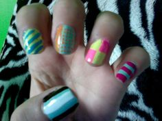 Got bored, messed around with nail polish and I got this :P