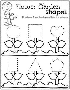Spring Preschool Worksheets - Shapes Tracing Looking for fun Sprint Preschool Themes Activities for kids? Check out these 16 Hands-On Spring preschool Learning Activities and Crafts for Preschool. Shape Worksheets For Preschool, Shapes Worksheets, Preschool Learning Activities, Free Preschool, Preschool Themes, Preschool Lessons, Preschool Activities, Spring Preschool Theme, Teaching Themes