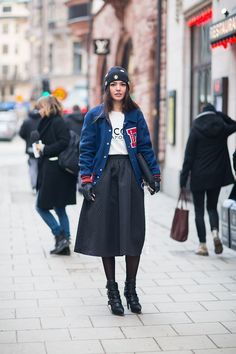 Varsity jacket | Stockholm streetstyle