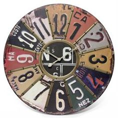 deee107b806 Infinity Instruments The Traveler License Place Wall Clock Design  Sustentável