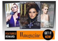 FREE One Year Subscription to W Magazine