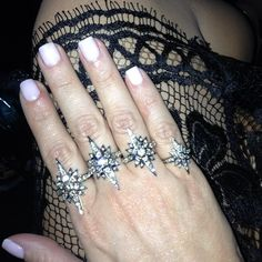 Love the manicure and the ring(s)  Kim Kardashian rings.png