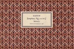 Penguin Scores no. 27: 1954 | Flickr - Photo Sharing! Designer: Jan Tschichold / Year: 1954 / Pattern by Elizabeth Friedlander