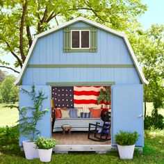patriotic she-shed