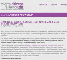 KEEPING CHILDREN SAFE ONLINE: TEENS, APPS, AND ONLINE PREDATORS