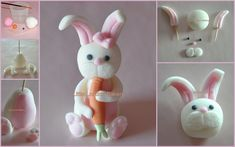 bunny tutorial fondant - Google Search