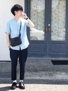 黒×水色×白好きな組み合わせの三色 早くも春夏服に飽きてきました♂️ 冬が待ち遠しい…